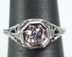 vintage engagement rings etsy