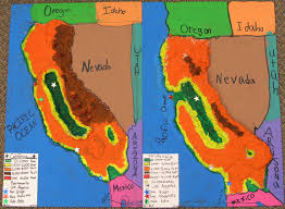 california map project a relief map project 4th grade california relief map