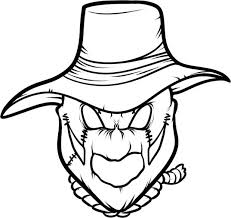 coloring pages scarecrow coloring pages free printable scarecrow