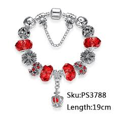 murano glass beads bracelet images Classic silver charm bracelet with murano glass beads bracelets jpg