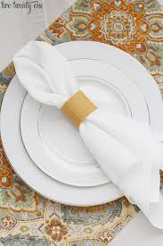 thanksgiving place setting no sew placemat and napkin ring