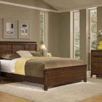 Neutral Colored Bedrooms - rustic bedroom decor with light beige painted wall and natural oak