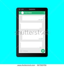social network concept blank template messenger imagem vetorial de