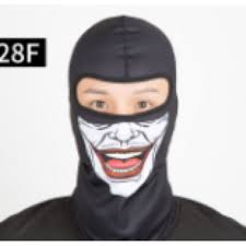 skull scarf face mask bandana bike cycling monster red blue joker