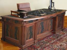 ergonomichome flame desk la fiamma executive crotch mahogany