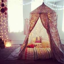 bedroom with fabric tent and fairy lights pretty bedroom fairy