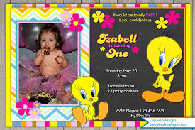 tweety bird birthday invitation new invitations pinterest