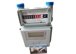 prepaid gas card contactless rf card prepaid gas meter domestic use with valve