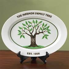 personalized serving platter ceramic personalized family tree platter walmart