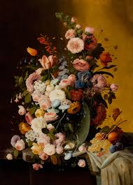 flowers and fruit flowers in a glass pitcher with bird s nest and fruit reynolda