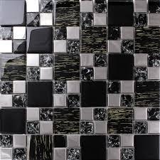 metal kitchen backsplash ideas silver stainless steel black glass tile backsplash ideas