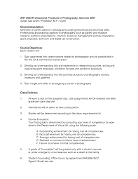 Resume For Photographer Photographers Resume Best Template Collection