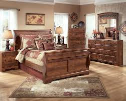 bedroom ashley furniture sleigh bed tufted bed frame king