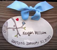 personalized baptism ornament personalized ceramic crosses birthday plates cupcake plates