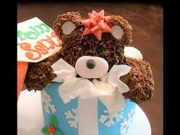 cake decorating how to make a teddy bear cake topper youtube