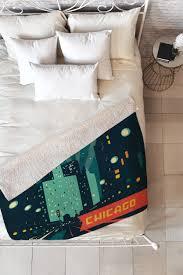 Men S Room Design Group Chicago Mag Mile Fleece Throw Blanket Anderson Design Group