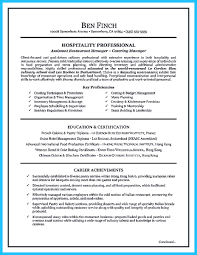 Resume Sample Achievement Statements by Excellent Culinary Resume Samples To Help You Approved