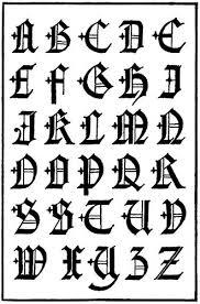 imagenes goticas letras el abecedario de letras góticas tendenzias com