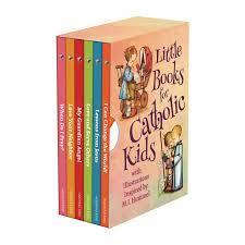 chagne gift set books for catholic kids