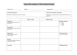 free weekly lesson plan templates