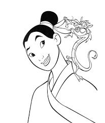 mulan coloring pages download print free
