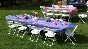 party tables and chairs amazing design ideas kids party furniture white folding chair rental children s table chairs are with purple covers tables and nj 585x329 jpg