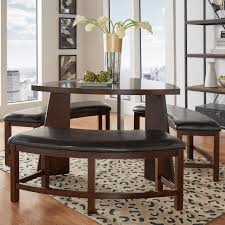 triangle shaped dining table inspire q paradise merlot triangle shaped 4 piece dining set dark