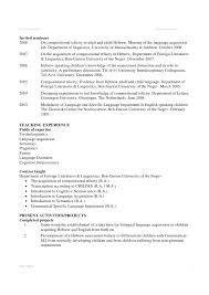 Academic Resume Academic Cv Example
