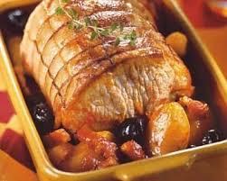 cuisine roti de porc en cocotte recette rôti de porc à l andalouse