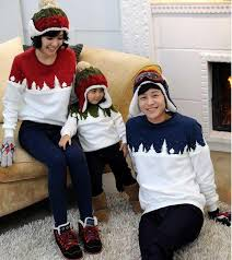sweater for family casual family look clothing sleeve o neck cotton