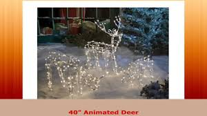 3 pc lighted deer family yard decoration