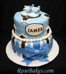 brown u0026 blue baby shower cake with tiny converse shoes