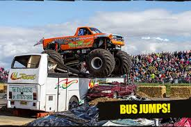 bus monster truck videos uk monster truck nationals show santa pod raceway