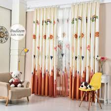 online get cheap color pencil kids room curtain window curtains