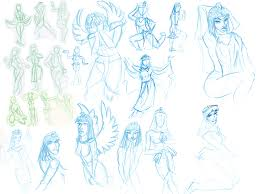 rebel rabbit comics sketch blog draw like an egyptian