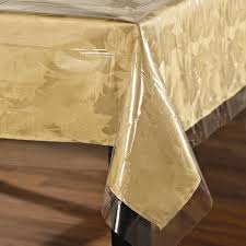 clear vinyl table protector easy care super clear vinyl tablecloth protector free shipping on