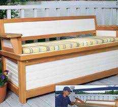 Patio Storage Bench Woodworking Plans U0026 Projects Storage Projects Dock Bench