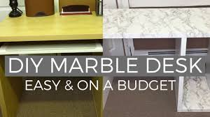 Contact Paper Desk Makeover Diy Marble Desk Makeover Affordable U0026 Easy Ikea Hack Youtube