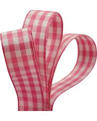 gingham ribbon amazing deal on polyester pink gingham ribbon 5 8 x 25yd