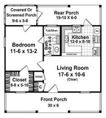 600 Livable Square Feet 1 Bedroom 1 Bathroom 1 Floor Footprint 30 32 X 30 House Plans