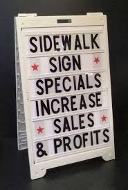 sidewalk signs econo classic a frame with message board