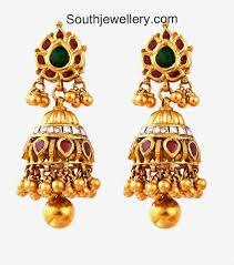 gold jhumka earrings design earrings stunning gold ring earrings beautiful gold jhumka