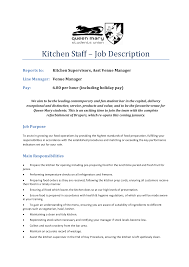 Executive Chef Resume Duties Of A Cook Resume Cv Cover Letter