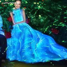 zac posen light up gown yq 113 2017 glowing dress glow in the dark dress