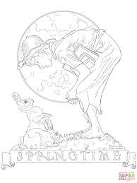 bunny boy by norman rockwell coloring page free printable