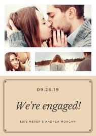 engagement announcement cards customize 63 engagement announcement templates online canva