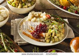 thanksgiving dinner plate stock images royalty free images