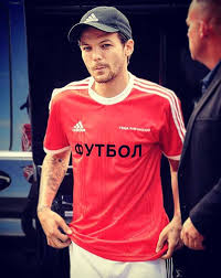 louis tomlinson in russian gosha rubchinskiy adidas x football