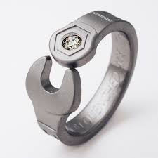 titanium mens wedding rings enfield 1 titanium ring with wrenches titanium wedding rings