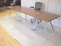 Herman Miller Meeting Table Bleached Oak Boardroom Table With Cable Outlet Ports Used